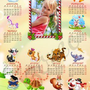 Veliki otroški koledarji 2021 za Božič - Novo leto - komplet 6 otroških koledarjev + kuverte - 461