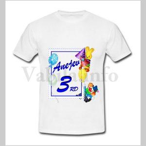 Otroška majica za 3 rojstni dan – 479