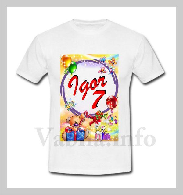 Otroška majica za 7 rojstni dan – 483