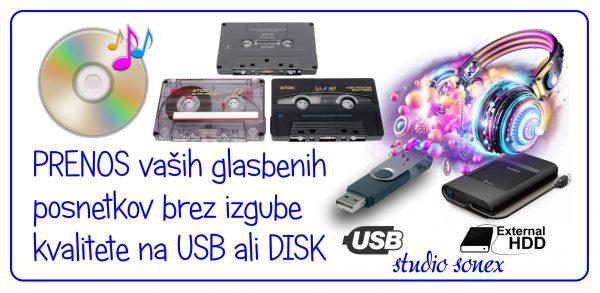 PRESNEMAVANJE - ARHIVIRANJE AUDIO GLASBENIH KASET NA USB KLJUČ – 487