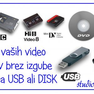 PRESNEMAVANJE - ARHIVIRANJE VIDEO KASET NA USB KLJUČ – 486